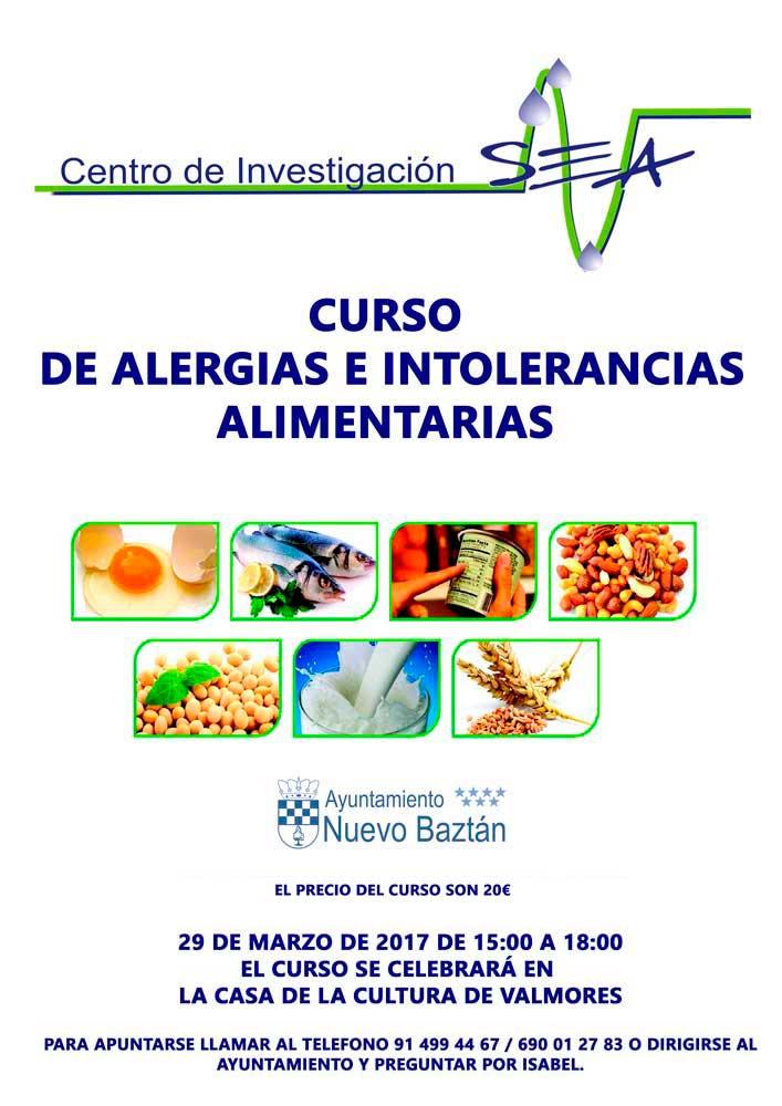 Curso de alergias e intolerancias alimentarias en Nuevo Baztán