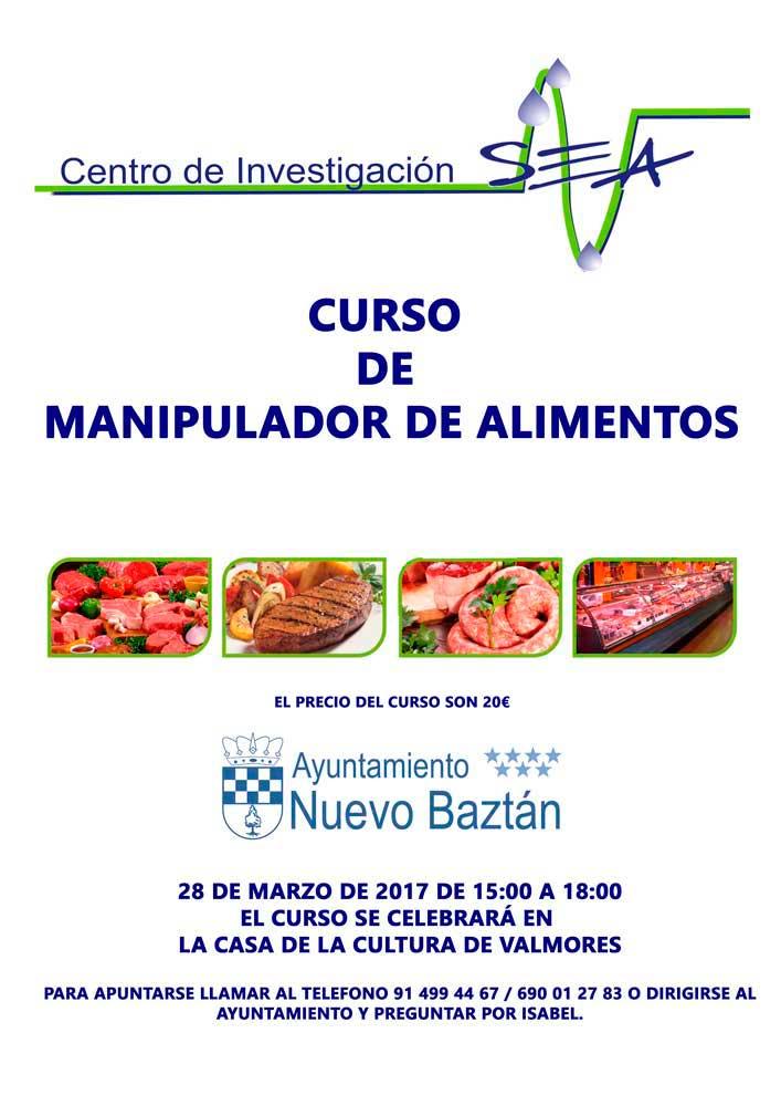 Curso de manipulador de alimentos en Nuevo Baztán