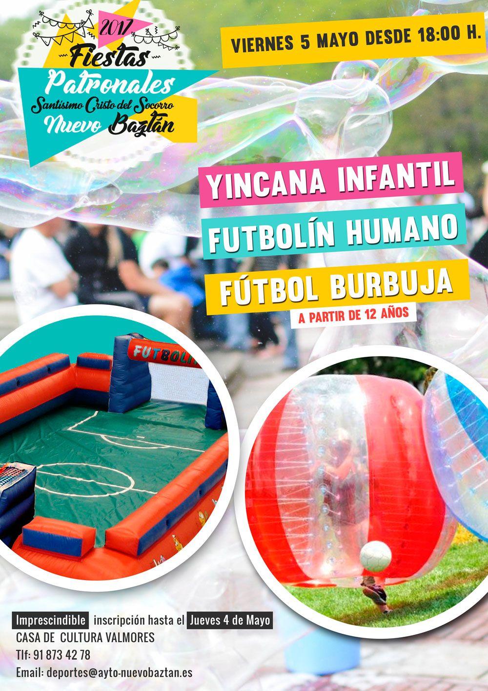 Yinkana, Futbolín Humano, Fútbol burbuja