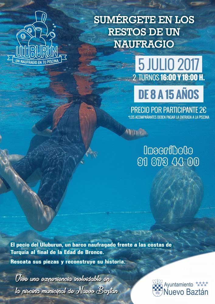 Sumérgete en los restos de un naufragio, el miércoles 5 de Julio en la piscina de Nuevo Baztán