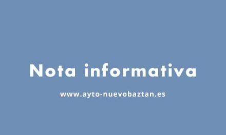 Nota informativa: Cierre de Servicios del Ayuntamiento de Nuevo Baztán