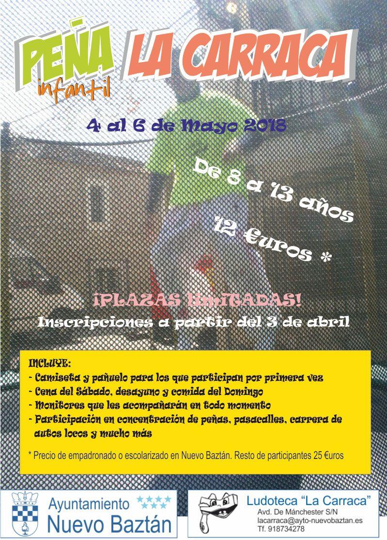 Cartel Peña Infantil La Carraca, Fiestas Patronales 2018