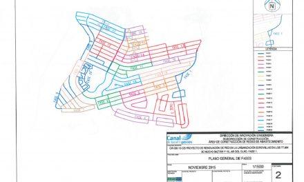 Actualización de la información de la Obra del Canal de Isabel II en Urbanización Eurovillas