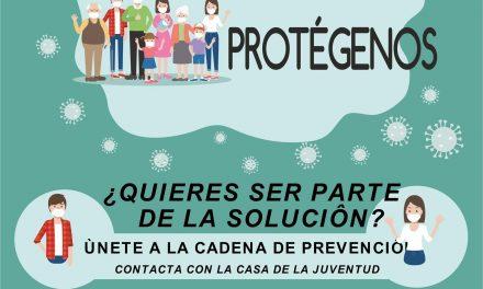 """Campaña de sensibilización de la juventud hacia la prevención de la pandemia COVID-19: """"Protégete, Protégenos"""""""